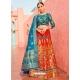 Red Designer Banarasi Silk Jacquard Wedding Lehenga Choli