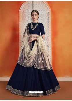 Navy Blue Designer Wedding Lehenga Choli