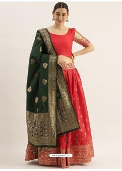 Red Latest Designer Wedding Lehenga Choli