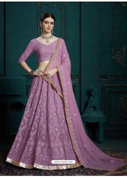 Lavender Latest Designer Georgette Wedding Lehenga Choli