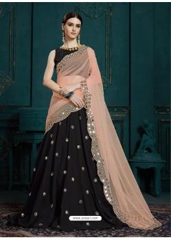 Black Latest Designer Georgette Wedding Lehenga Choli