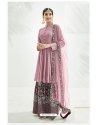 Dusty Pink Designer Party Wear Chinon Palazzo Suit
