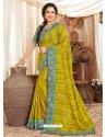 Corn Heavy Designer Wedding Wear Fancy Fabric Sari