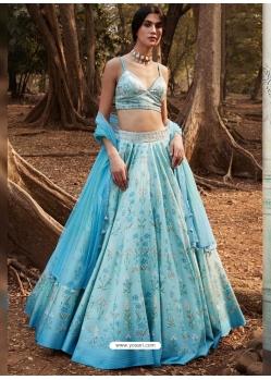 Blue Latest Designer Wedding Lehenga Choli