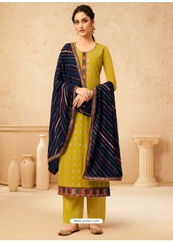 Corn Designer Party Wear Real Georgette Palazzo Suit