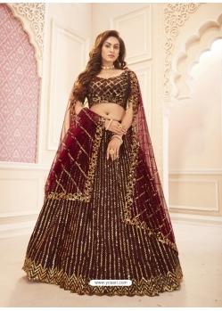 Maroon Latest Designer Wedding Lehenga Choli