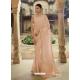 Light Beige Heavy Designer Party Wear Sari