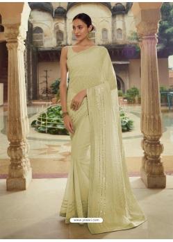 Pista Green Heavy Designer Party Wear Sari