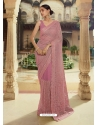 Old Rose Heavy Designer Party Wear Sari