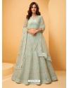 Grayish Green Latest Designer Wedding Lehenga Choli