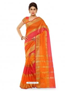 Multi Colour Heavy Designer Party Wear Cotton Silk Sari