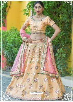 Cream Latest Designer Wedding Lehenga Choli