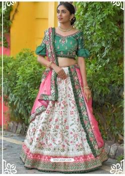 Off White Latest Designer Wedding Lehenga Choli