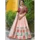 Light Orange Latest Designer Wedding Lehenga Choli