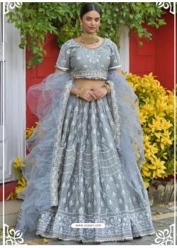 Grey Latest Designer Wedding Lehenga Choli
