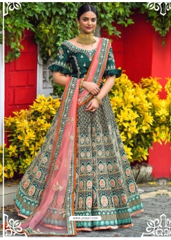 Dark Green Latest Designer Wedding Lehenga Choli
