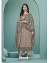 Light Brown Readymade Designer Party Wear Heavy Airtex Georgette Suit
