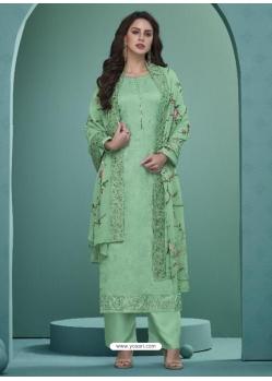 Sea Green Readymade Designer Party Wear Heavy Airtex Georgette Suit