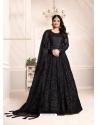 Black Designer Net Party Wear Indo Western Suit