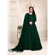 Dark Green Designer Net Party Wear Indo Western Suit