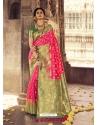 Fuchsia Heavy Designer Party Wear Banarasi Silk Sari