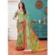 Green Designer Casual Wear Linen Cotton Sari
