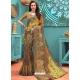 Brown Designer Casual Wear Linen Cotton Sari