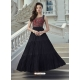 Black Readymade Designer Party Wear Gown Suit