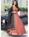 Light Red Readymade Designer Party Wear Gown Suit