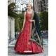 Rose Red Readymade Designer Party Wear Gown Suit