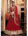 Tomato Red Latest Designer Wedding Lehenga Choli
