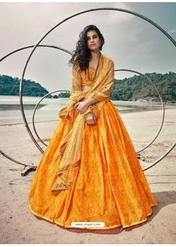 Orange Latest Designer Wedding Lehenga Choli