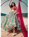 Sea Green Latest Designer Wedding Lehenga Choli