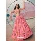 Pink Latest Designer Wedding Lehenga Choli
