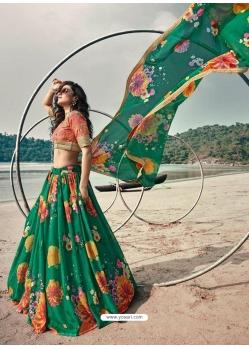 Forest Green Latest Designer Wedding Lehenga Choli