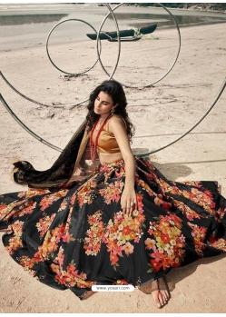 Black Latest Designer Wedding Lehenga Choli