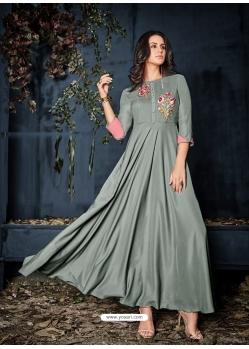 Grey Designer Party Wear Western Gown