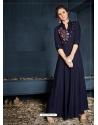 Navy Blue Designer Party Wear Western Gown