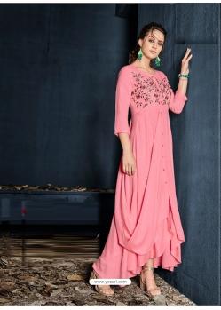 Pink Designer Party Wear Western Gown