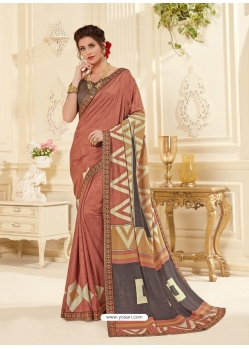 Rust Latest Designer Casual Wear Sari