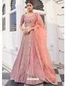 Dusty Pink Latest Designer Wedding Lehenga Choli