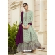 Sea Green Designer Party Wear Faux Georgette Palazzo Suit