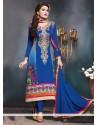 Blue Bamber Churidar Salwar Kameez
