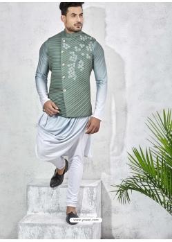 Multi Colour Exclusive Readymade Designer Kurta Pajama With Waistcoat