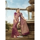 Purple Latest Designer Party Wear Banarasi Silk Sari