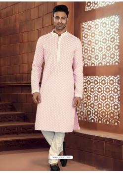 Baby Pink Exclusive Readymade Designer Kurta Pajama