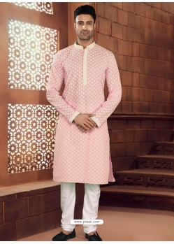 Pink Exclusive Readymade Designer Kurta Pajama