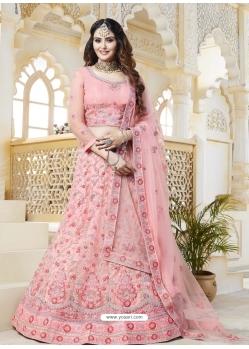 Baby Pink Latest Designer Wedding Bridal Lehenga Choli