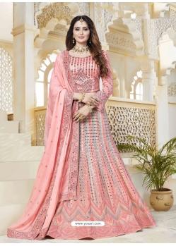 Peach Latest Designer Wedding Bridal Lehenga Choli