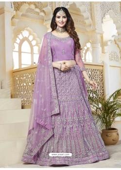 Lavender Latest Designer Wedding Bridal Lehenga Choli